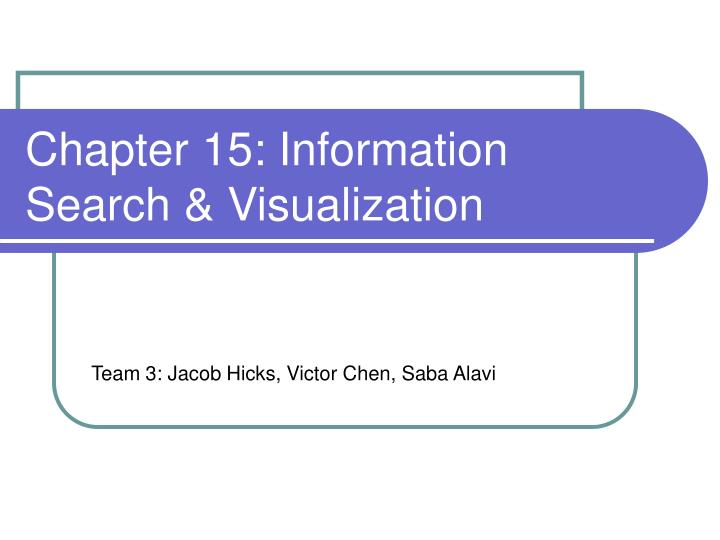 Chapter 15 information search visualization