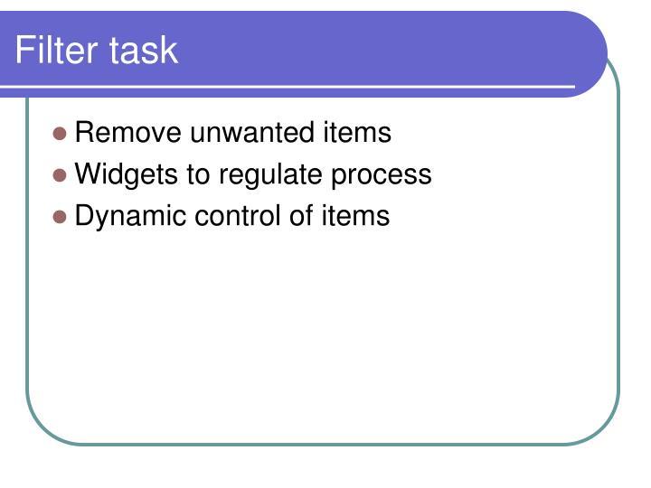 Filter task