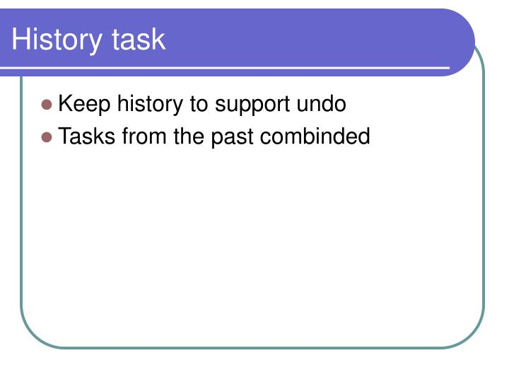 History task