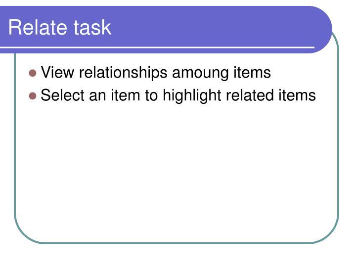 Relate task