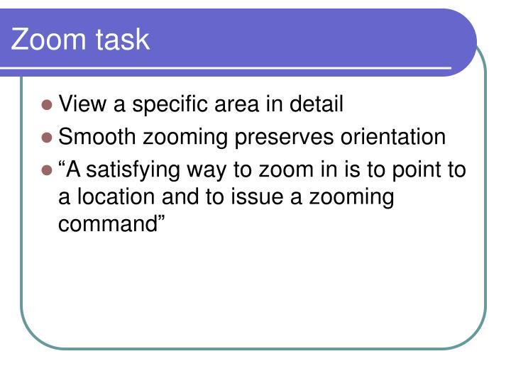 Zoom task