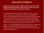 dialogue example