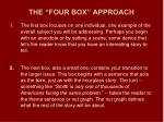 the four box approach1