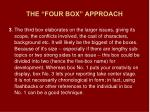 the four box approach2
