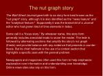 the nut graph story