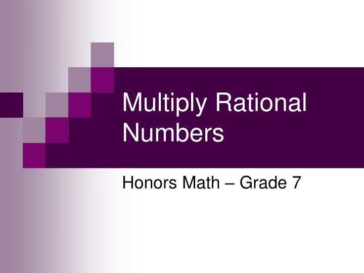Multiply rational numbers