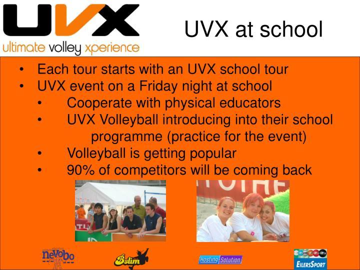UVX at school