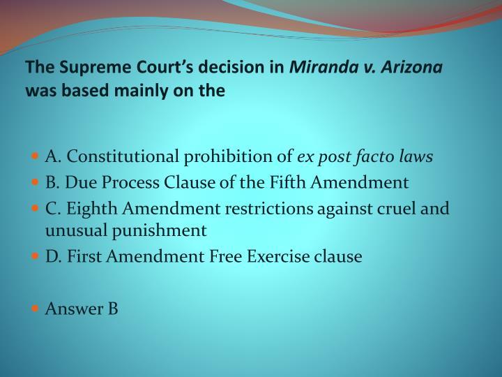 The Supreme Court's decision in