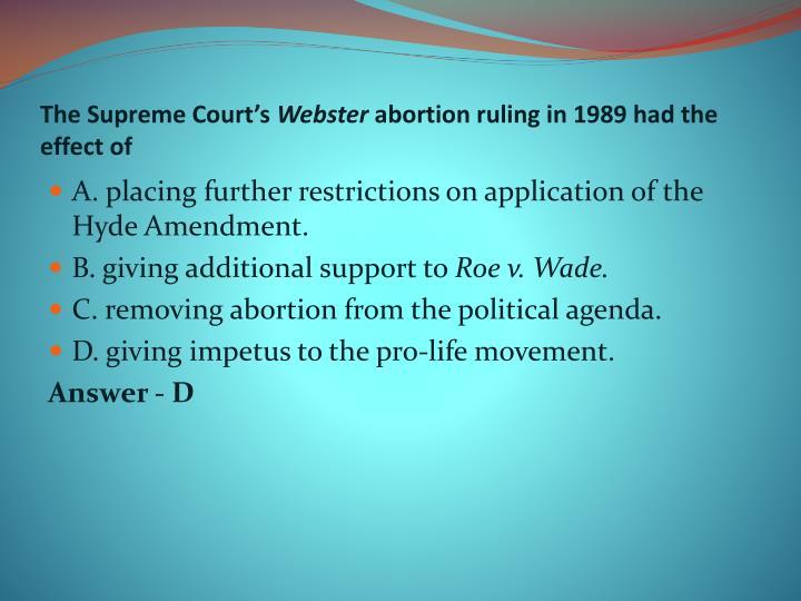 The Supreme Court's