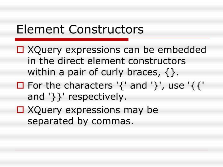 Element Constructors