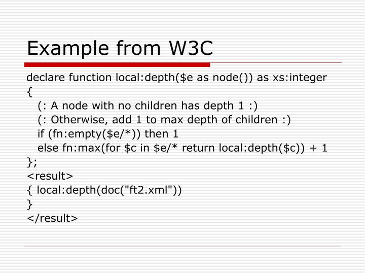 Example from W3C