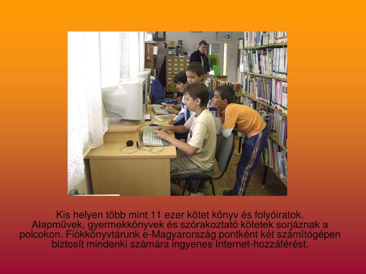 Kis helyen több mint 11 ezer kötet könyv és folyóiratok.