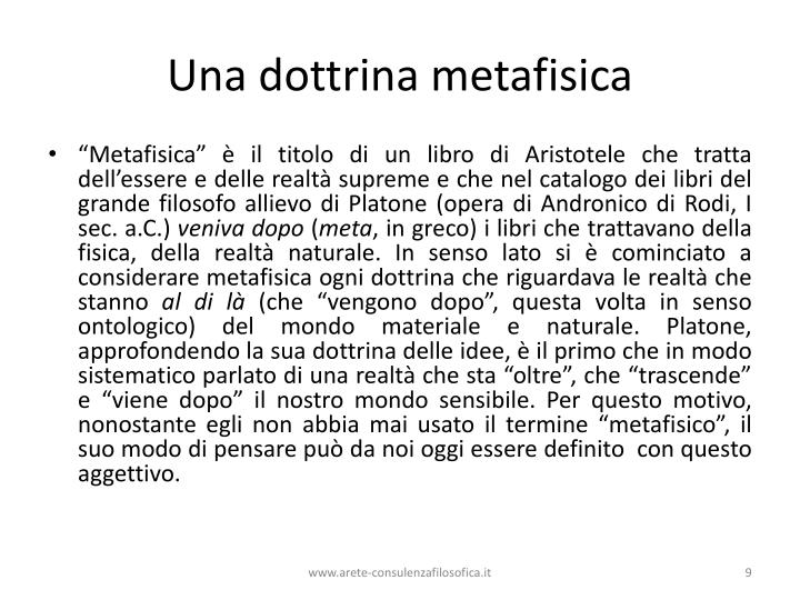 Una dottrina metafisica
