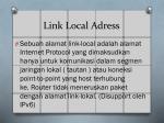 link local adress