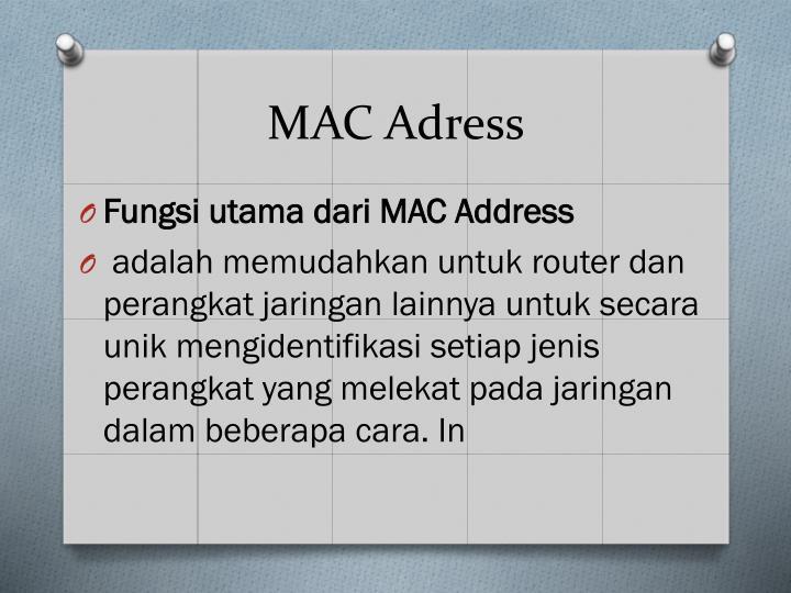 MAC Adress