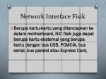 network interface fisik