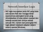 network interface logis
