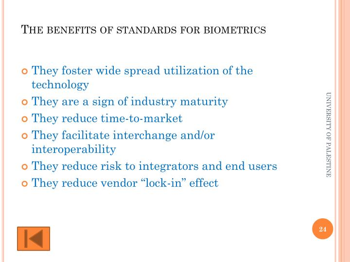 The benefits of standards for biometrics