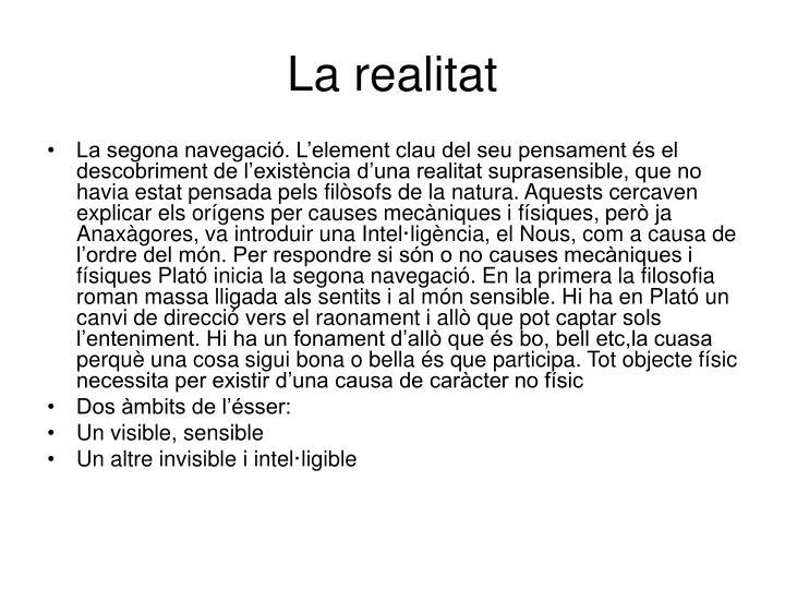 La realitat