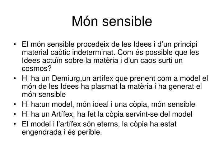 Món sensible