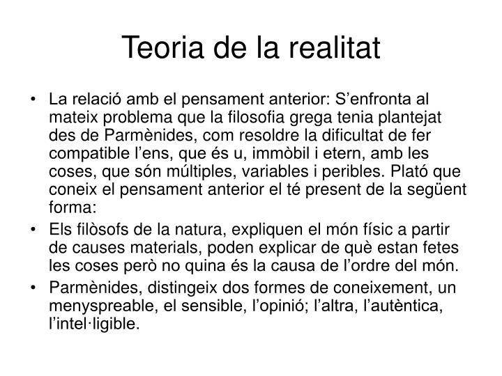 Teoria de la realitat