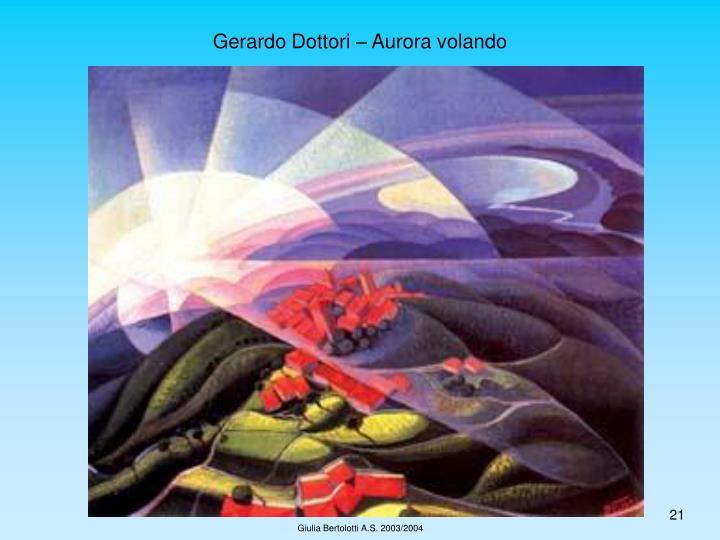 Gerardo Dottori – Aurora volando