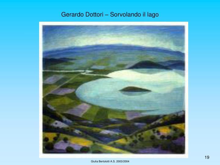 Gerardo Dottori – Sorvolando il lago