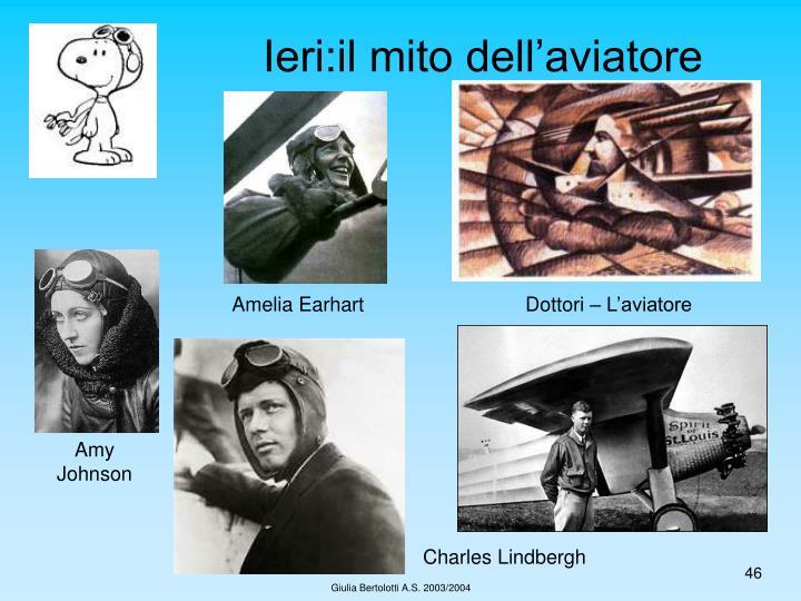Ieri:il mito dell'aviatore