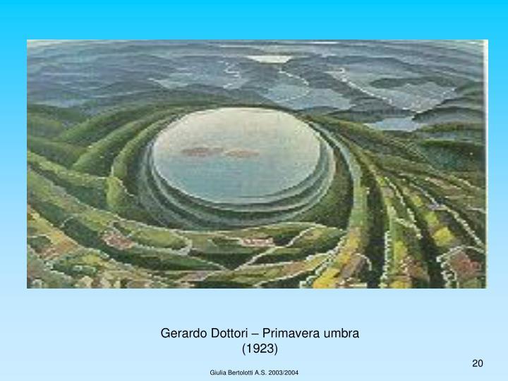 Gerardo Dottori – Primavera umbra (1923)