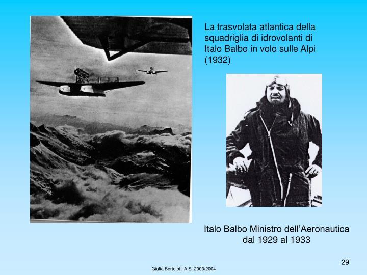 La trasvolata atlantica della squadriglia di idrovolanti di Italo Balbo in volo sulle Alpi (1932)