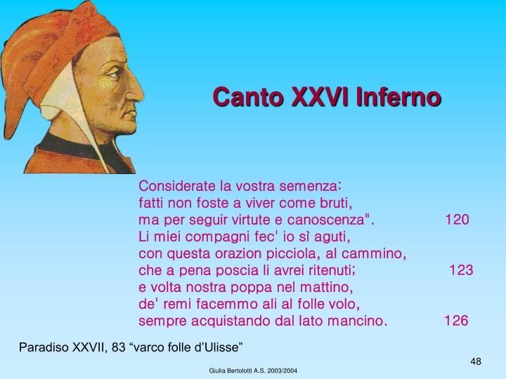 Canto XXVI Inferno