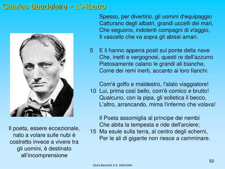 Charles Baudelaire – L'Albatro