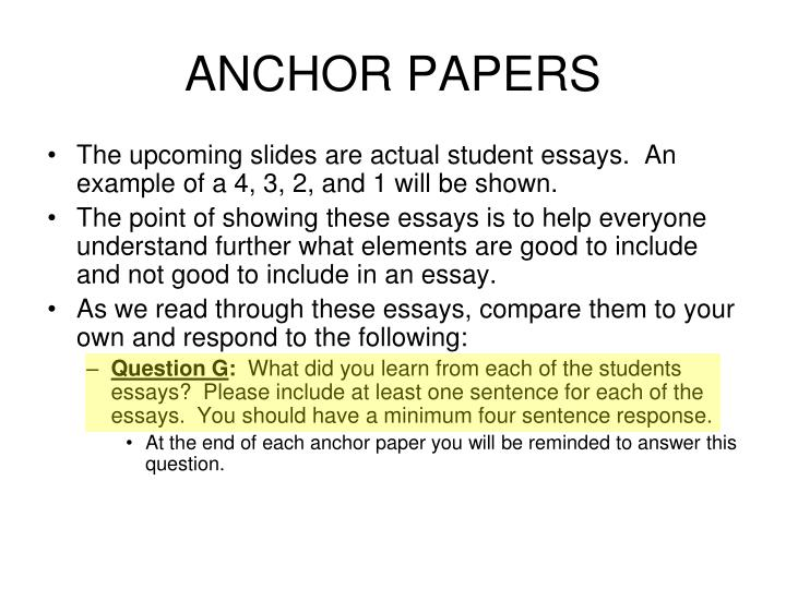 ANCHOR PAPERS