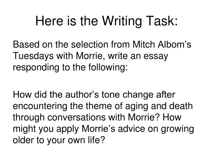 Here is the Writing Task: