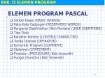 bab ii elemen program