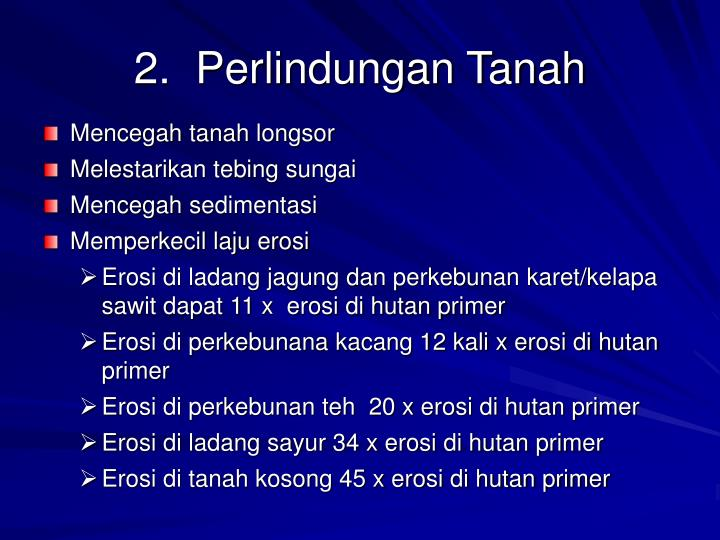 2.  Perlindungan Tanah