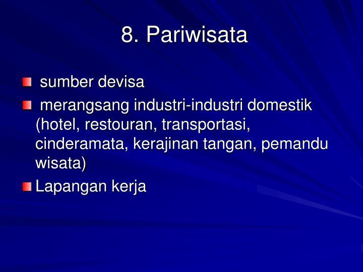 8. Pariwisata