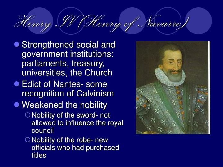 Henry IV (Henry of Navarre)