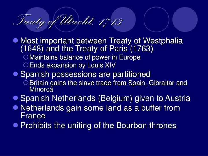 Treaty of Utrecht, 1713