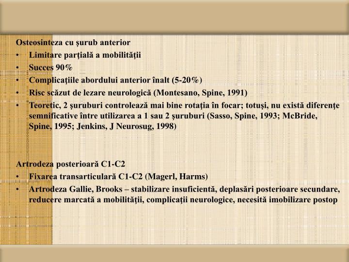 Osteosinteza cu şurub anterior