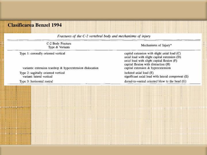 Clasificarea Benzel 1994