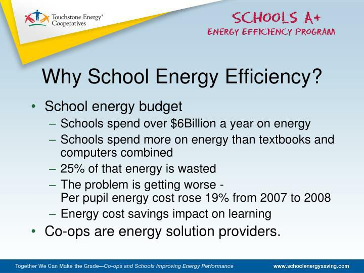 Why School Energy Efficiency?