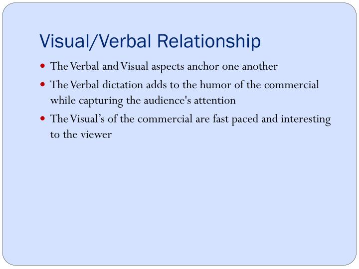 Visual/Verbal Relationship