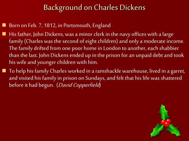 Background on Charles Dickens