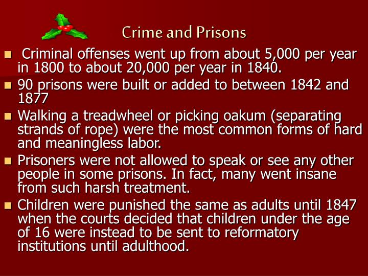 Crime and Prisons