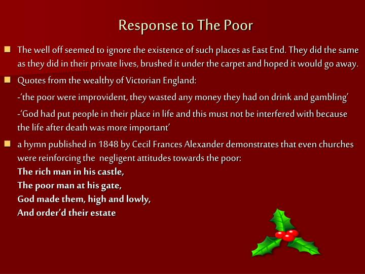 Response to The Poor