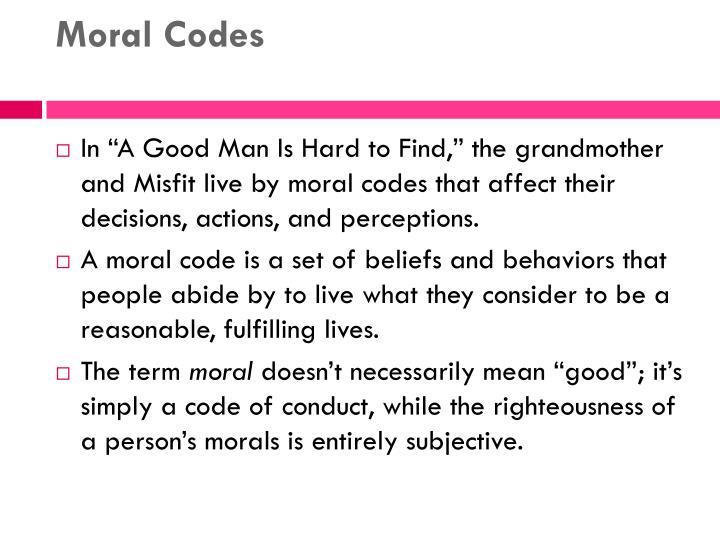 Moral Codes