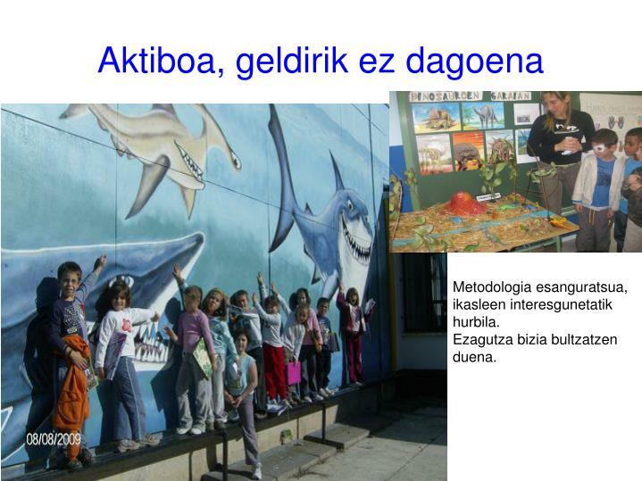 Aktiboa, geldirik ez dagoena