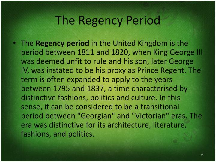 The Regency Period