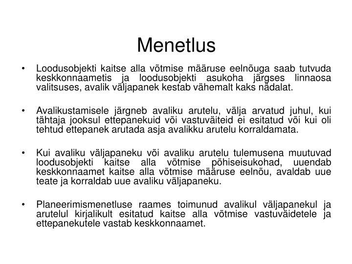 Menetlus